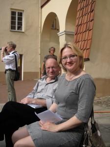 Zdravko Kecman en zijn vertaler Bosnisch-Litouws Laima Masyte, 2 juni 2013, Vilnius, Litouwen