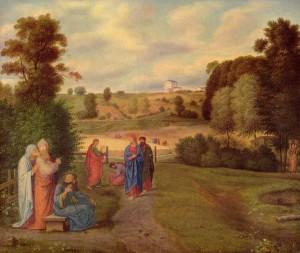 'Jesus mit seinen Jüngern' Ferdinand Olivier (1840)