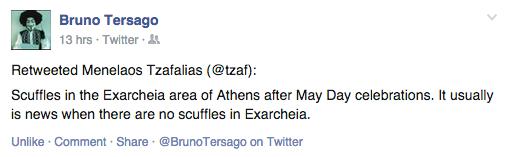Twitterbericht 1 mei 2015